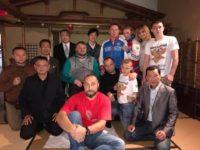 裏千家茶道一二三会さんの茶室にて、禅道会ロシア選手団へおもてなし